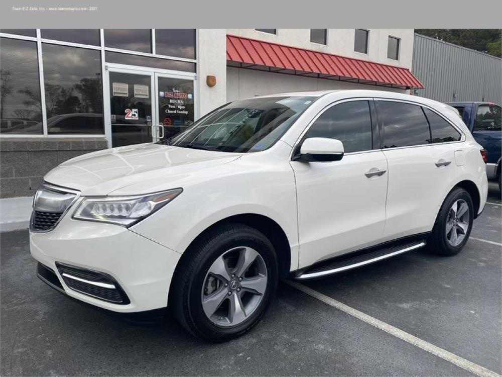 2016 White /Tan Acura MDX (5FRYD3H21GB) with an 6 3.5L V6 F SOHC 24V engine, Automatic transmission, located at 3900 Bragg Blvd., Fayetteville, 28303, (910) 868-3000, 35.081905, -78.943367 - Photo #2