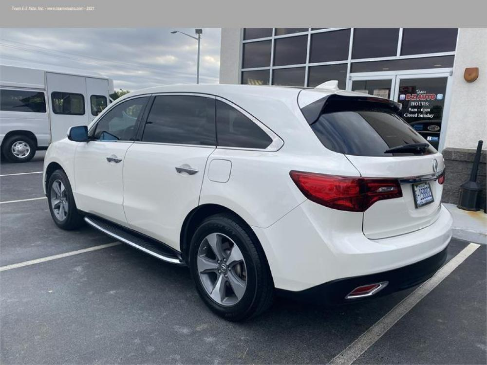 2016 White /Tan Acura MDX (5FRYD3H21GB) with an 6 3.5L V6 F SOHC 24V engine, Automatic transmission, located at 3900 Bragg Blvd., Fayetteville, 28303, (910) 868-3000, 35.081905, -78.943367 - Photo #3