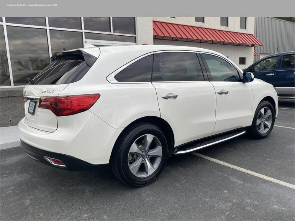 2016 White /Tan Acura MDX (5FRYD3H21GB) with an 6 3.5L V6 F SOHC 24V engine, Automatic transmission, located at 3900 Bragg Blvd., Fayetteville, 28303, (910) 868-3000, 35.081905, -78.943367 - Photo #4